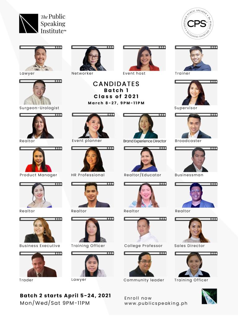 Certified Public Speaker™ Philippines Batch 1