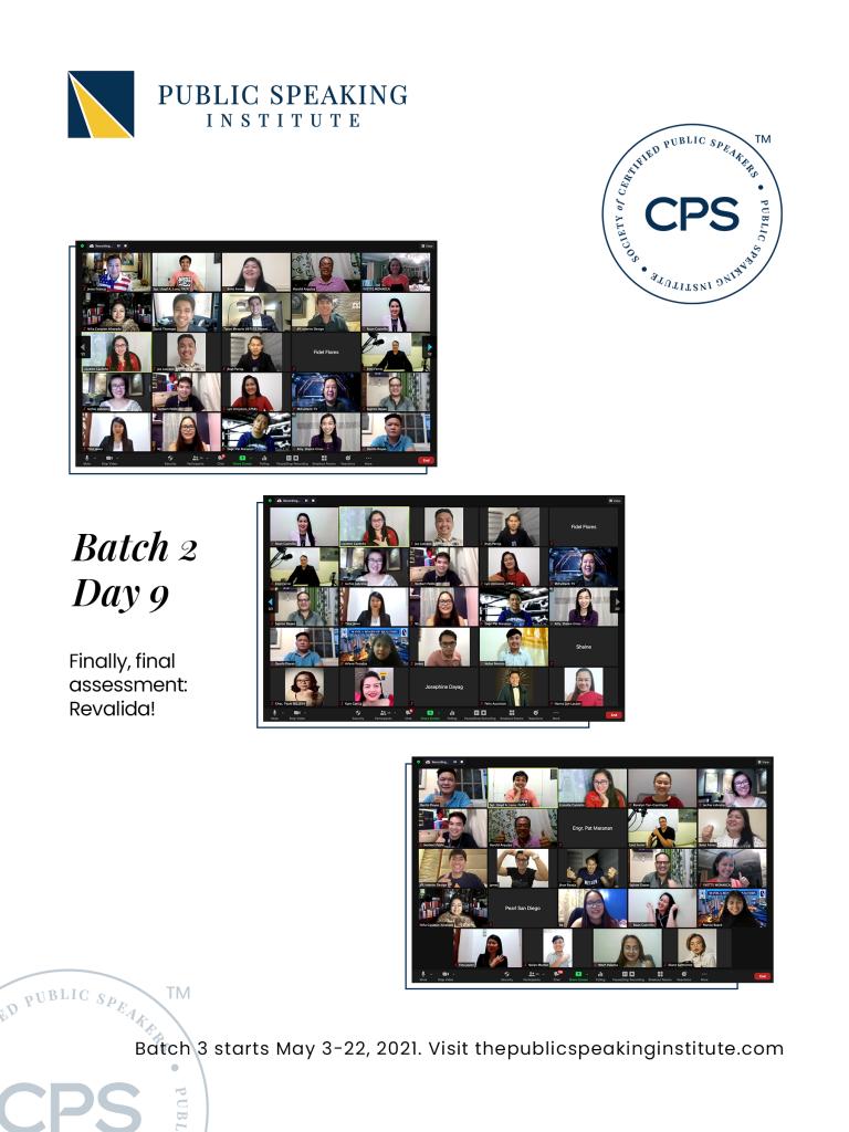 Certified Public Speakers Batch 2 2021